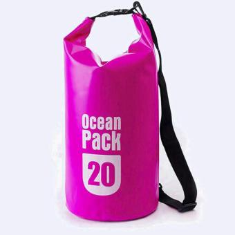 20L Outdoor Ocean Pack Waterproof Dry Bag Sack Storage Bag (Pink) Price Philippines