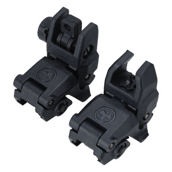 20MM Rail Gen1 2Pcs Tactical Folding Front/Rear Flip Up Backup Sights BUIS Set - intl Price Philippines