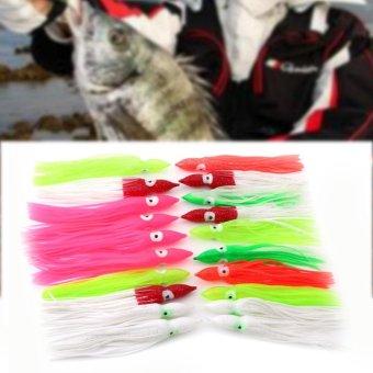 20pcs New Useful Mixed Color Squid Skirt Bait Saltwater Sea FishingLures(6cm) - intl - 4