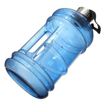 2.2 Liter (Half Gallon) 64oz BPA-Free Large Training Gym Water Bottle Handle - 4