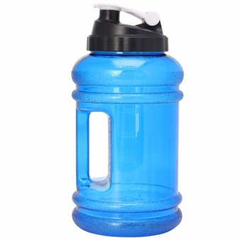 2.2L Big BPA Free Sport Gym Training Drink Water Bottle Cap KettleWorkout Hot(Blue) - intl
