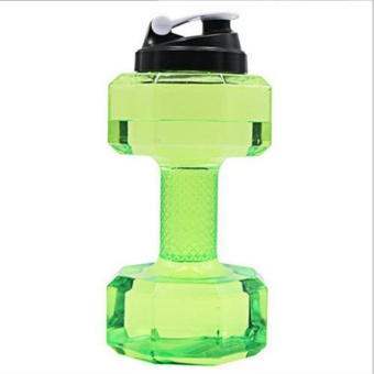 2.2L Dumbbell Large BPA Free Sports Gym Training Drink Water Bottle Cap Kettle - intl