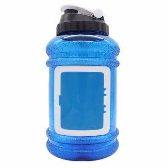 2.2L Large Big BPA Free Sport Gym Training Drink Water Bottle CapKettle Workout(Blue) - intl