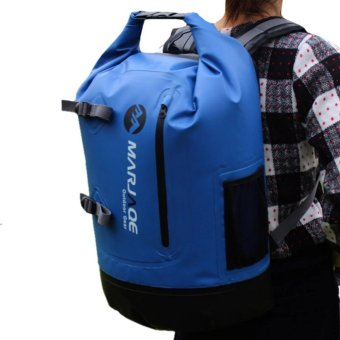 28L Marjaqe Beach Boating Trekking Camping Swimming Waterproof DryBag (Blue) Price Philippines