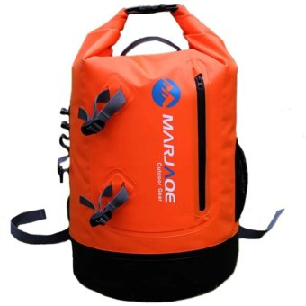 28L Marjaqe Beach Boating Trekking Camping Swimming Waterproof DryBag (Orange) Price Philippines