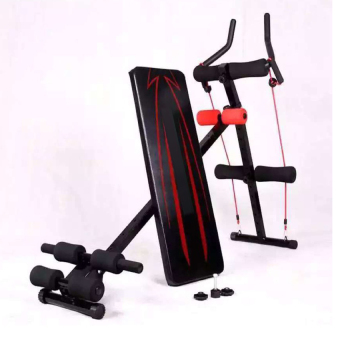 2in1 Ab Glider with Adjustable Decline Sit up Bench Crunch BoardSlant Fitness