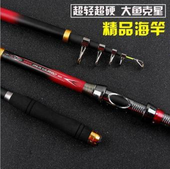 2NE1 3.6m Sea pole Carbon fishing rod fishing rod Red - intl