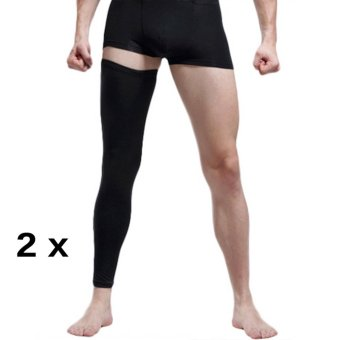 2PCS (A Pair)Adult Youth Compression Knee Calf Sleeves Leg Guard Support Antislip Sport Football Basketball Cycling Running Gym Stretch Leg Knee Brace Long Sleeve Protector Gear, L - intl