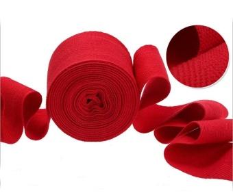 2pcs/roll Cotton Bandage Sports Absorb Sweat Boxing Binding ProtectBelt Hand Wraps White - intl - 2