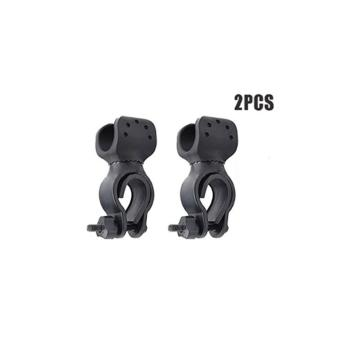 2pieces of 360 degrees Laser Torch Flash Light Clip Clamp Mount Holder