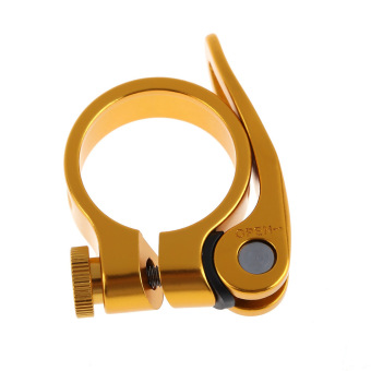 34.9mm MTB Bike Cycling Saddle Seat Post Clamp Quick Release QR Style Gold