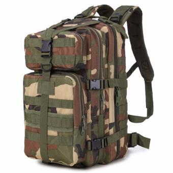 35L Outdoor 3P Tactical Backpacks Waterproof MultifunctionalCamouflage Military Bag Camping Hiking Rucksack - intl
