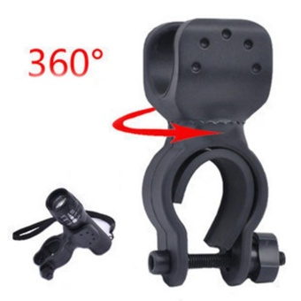 360 Swivel Bike LED Flashlight Mount Bracket Flash Torch HolderFront Light Clip Clamp Lantern Bicycle Accessories - intl