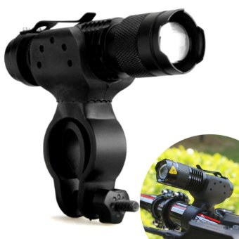 360 Swivel Cycling Bicycle Bike LED Front Head Light Holder Clip - intl