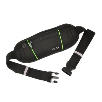 360DSC Sports Running Belt Wallet Waist Pack Pocket Belt - Black Price Philippines