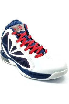361 Degrees Kevin Love Nostalgia Basketball Shoes (White/Blue/Red)