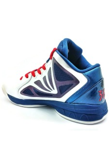 361 Degrees Kevin Love Nostalgia Basketball Shoes (White/Blue/Red) - picture 2