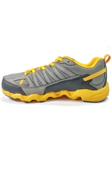 361 Degrees Masta Outdoor Comfort Trail Running Shoes (Grey/Yellow) - picture 4