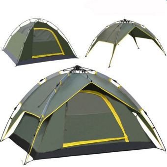 4-Person Automatic Folding Camping Tent (COLOR MAY VARY) - 3