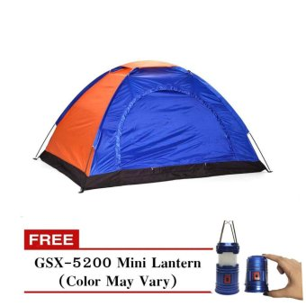 4 Person Tent with Free GSX-5200 Mini Lantern (Color May Vary)
