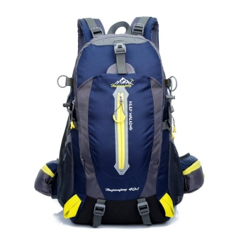 40L Water Resistant Travel Backpack Camp Hike Laptop Daypack Trekking Climb Back Bags For Men Women - intl