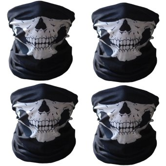 4Pcs Tubular Skull Protective Dust Mask Bike Motorcycle CyclingHelmet Neck Face Mask Bandana Express by LAZADA LGS