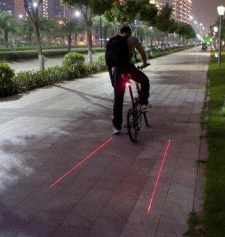 5 LED Rear Bike Bicycle Tail Light Beam Safety Warning Red Lamp-
