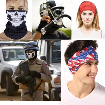 5-Pack Skull Face Masks Motorcycle Riding Bandana Headwear Scarf Outdoor Dustproof - Multifunctional,Seamless,Tublar,Thin - intl - 3