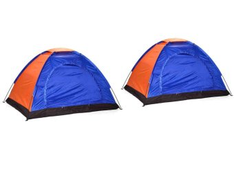 5 Person Dome Camping Tent (Blue) Set Of 2