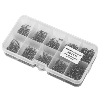 500pcs Size 4 6 8 10 12 New Rolling Barrel Fishing Swivels FishingTackle Accessory Box - intl