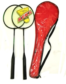 #517 Type Keka Portable Double Badminton Racket (Red)
