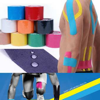 5cm x 5m Sports Kinesiology Tape Kinesio Roll Cotton ElasticAdhesive Muscle Bandage Strain Injury Support Muscle stickers(Yellolw) Price Philippines