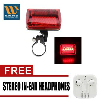 5LED Flashing Red Rear Light Cycling Bicycle Bike Taillight Safety7Modes