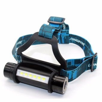 6 LED + CREE Q5 outdoor camping headlamp waterproof 3 modes headband lamp flashlight cree 18650 led head lamp light for camp