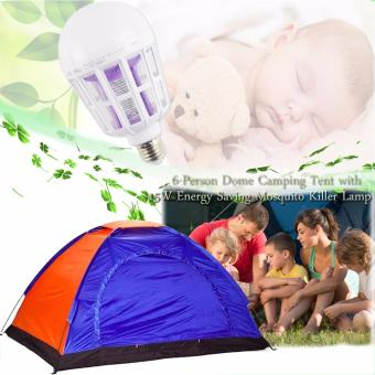 6-Person Dome Camping Tent (Multicolor) With Free 15W Energy Saving Mosquito Killer Lamp (White)