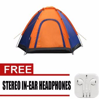 6-Person Dome Camping Tent (Multicolor) with FREE Earphone