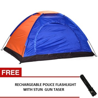 6-Person Dome Camping Tent (Multicolor) with FREE RechargeablePolice Flashlight with Stun Gun