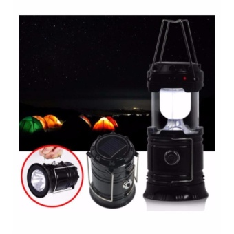 6+1 LED Rechargeable Camping Lantern Lamp Flashlight For Outdoor Activities (Black)