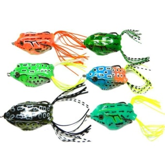 6pcs Frog Snakeheads Bait Fishing Lures Bass Soft Bait - intl