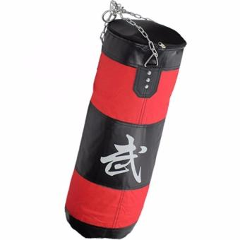 70cm Training MMA Boxing Hook Kick Sandbag Punching Bag (Red/Black)