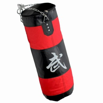 80cm Training MMA Boxing Hook Kick Sandbag Punching Bag (Red/Black)