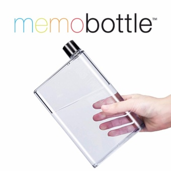 A5 Memo Bottle Portable Ultra Slim 420ML Water Bottle (Clear)