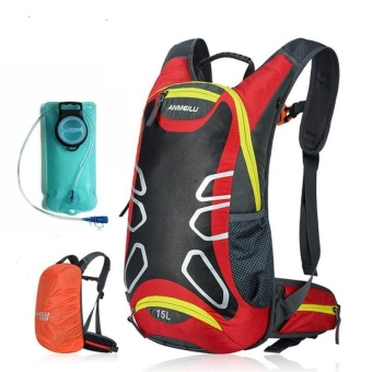 Abcycle 15L Hydration Bladder Backpack Cycling Bicycle BikeShoulder Backpack Outdoor Sports Travel Water Bag with Rain CoverCamping Hiking Running Cycling Camelback Mochila Hidratacion + 2LWater Bag - intl