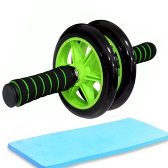 Abdominal Wheel AB Roller Exercise with Brake (Green/Black)