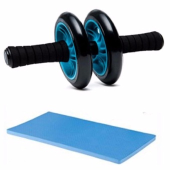 Abdominal Wheel Gym Exercise Roller with Extra Thick Knee PadMat-for Best Abs Workout-perfect Fitness Equipment Price Philippines