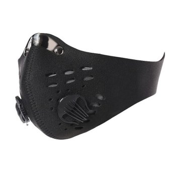 Activated Carbon Anti Dust Bicycle Motorcycle Racing Ski Half FaceMask Black