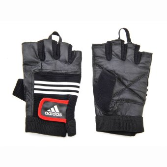 Adidas Leather Lifting Gloves S/M (Black/Red)