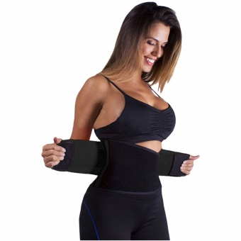 Adjustable Belly Trainer Waist Support Fitness Belt Sport waistband Power Tummy Slim Belts (Size XL) - intl