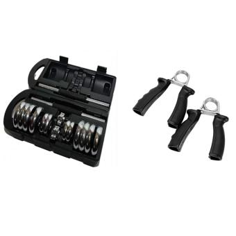 Adjustable York Chrome Dumbell Set 20kg Gym Fitness Dumbbell With Hand Grip Exercise Muscle Training (Multicolor) Pair