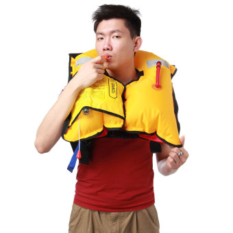Adult Inflatable Life Jacket Swimming Whistle Manual Buoyancy AidSea Sailing Boating Audew - intl Price Philippines